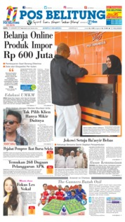 Cover Pos Belitung 19 Januari 2019