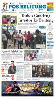 Cover Pos Belitung 21 Januari 2019