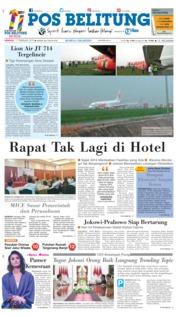 Pos Belitung Cover 17 February 2019