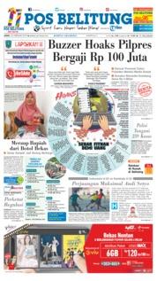 Cover Pos Belitung 22 Februari 2019