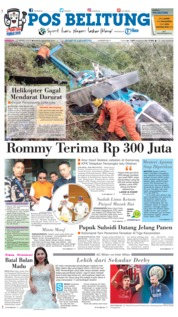 Cover Pos Belitung 17 Maret 2019