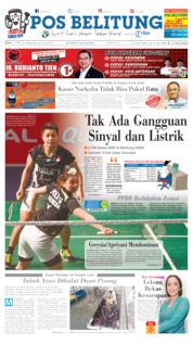 Cover Pos Belitung 01 April 2019