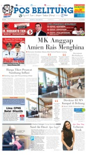 Cover Pos Belitung 02 April 2019