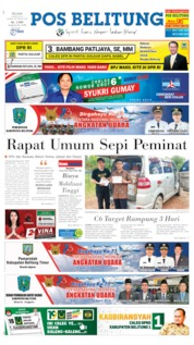 Cover Pos Belitung 09 April 2019