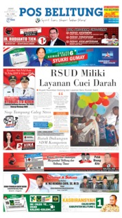 Cover Pos Belitung 12 April 2019