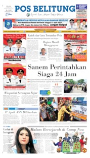 Cover Pos Belitung 16 April 2019