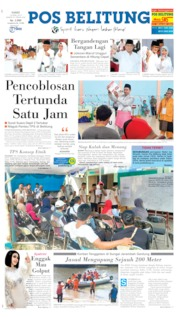 Cover Pos Belitung 18 April 2019
