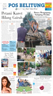 Cover Pos Belitung 21 April 2019