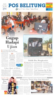Cover Pos Belitung 23 April 2019