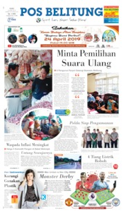Pos Belitung Cover 24 April 2019