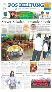 Cover Pos Belitung 25 April 2019
