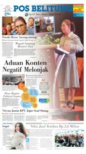 Cover Pos Belitung 26 April 2019