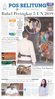 Pos Belitung Cover 13 May 2019