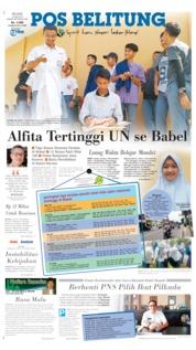 Pos Belitung Cover 14 May 2019