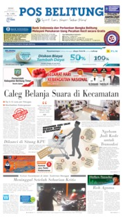 Pos Belitung Cover 20 May 2019