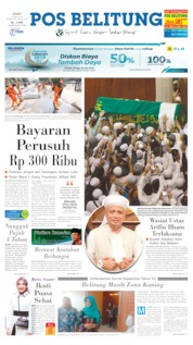 Pos Belitung Cover 24 May 2019