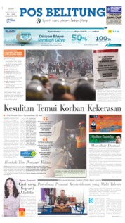 Pos Belitung Cover 27 May 2019
