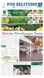 Cover Pos Belitung 04 Juni 2019