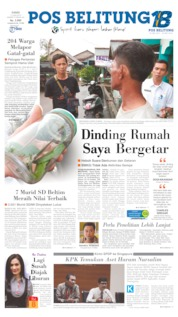 Pos Belitung Cover 13 June 2019