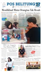 Pos Belitung Cover 20 June 2019