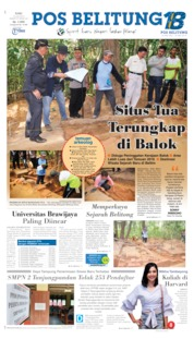 Pos Belitung Cover 10 July 2019