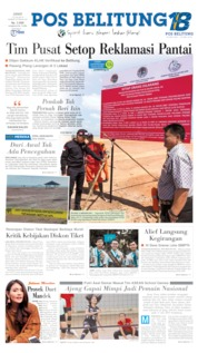 Pos Belitung Cover 12 July 2019