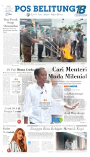 Pos Belitung Cover 13 July 2019