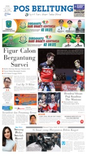 Pos Belitung Cover 22 July 2019