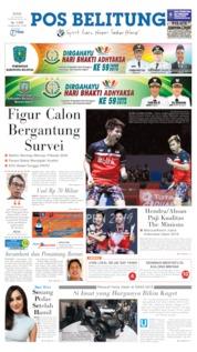 Cover Pos Belitung 22 Juli 2019