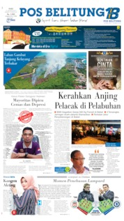 Pos Belitung Cover 14 August 2019