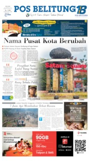 Pos Belitung Cover 20 August 2019