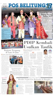 Pos Belitung Cover 25 August 2019