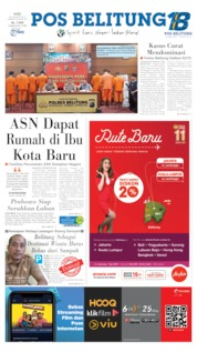 Pos Belitung Cover 28 August 2019