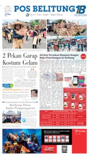 Pos Belitung Cover 29 August 2019