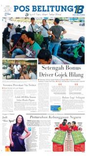 Pos Belitung Cover 05 September 2019
