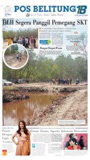 Pos Belitung Cover 07 September 2019