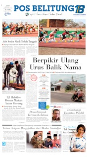Cover Pos Belitung 13 September 2019