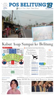 Pos Belitung Cover 17 September 2019
