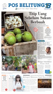 Cover Pos Belitung 20 September 2019