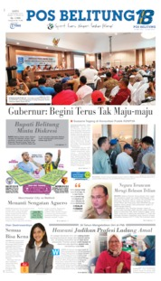 Cover Pos Belitung 21 September 2019