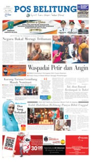 Pos Belitung Cover 23 September 2019
