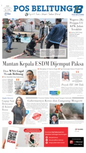 Pos Belitung Cover 09 October 2019