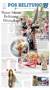 Pos Belitung Cover 13 October 2019