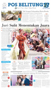 Pos Belitung Cover 14 October 2019