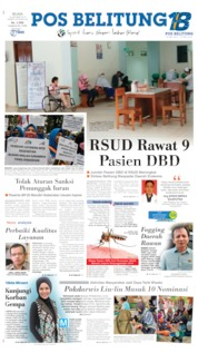 Pos Belitung Cover 15 October 2019