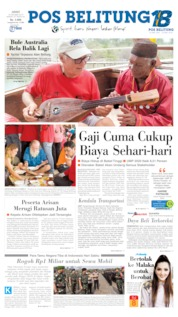 Pos Belitung Cover 18 October 2019