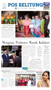 Pos Belitung Cover 21 October 2019