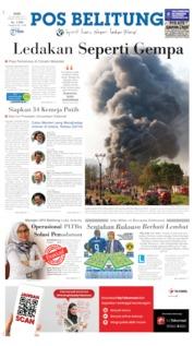Cover Pos Belitung 23 Oktober 2019