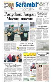 Cover Serambi Indonesia 24 Maret 2018