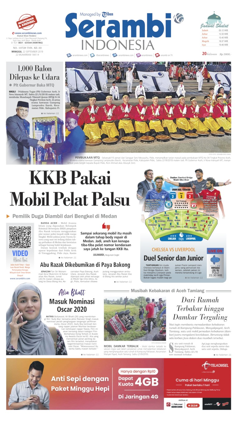 Koran Digital Serambi Indonesia 22 September 2019